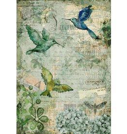 Decoupage Queen Afternoon Hummingbirds