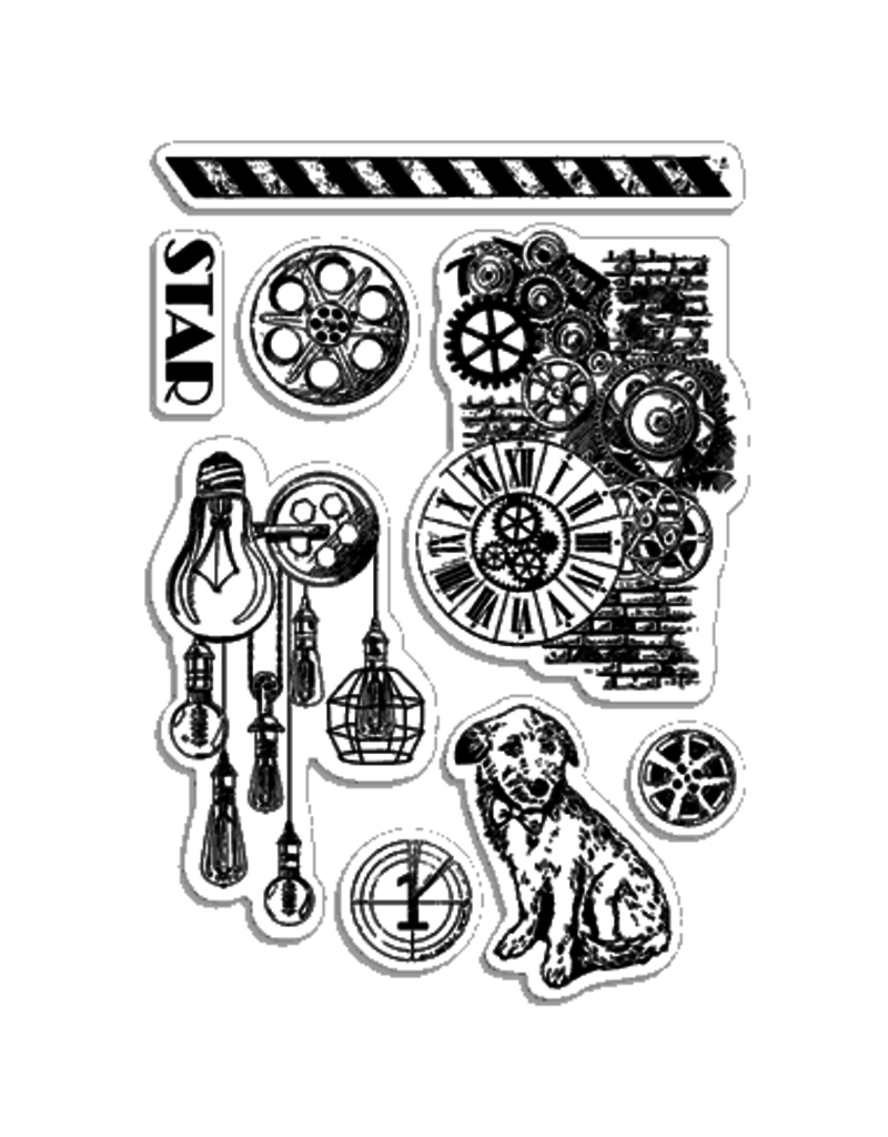 """Ciao Bella Clear Stamp Set 4""""x6"""" Movie Star"""