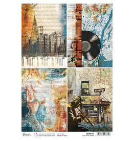 Ciao Bella Rice Paper A4 Blue Note cards