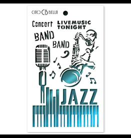 "Ciao Bella Texture Stencil 5""x8"" Jazz"
