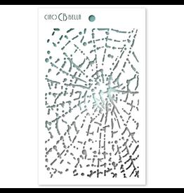 "Ciao Bella Texture Stencil 5""x8"" Spider Net"
