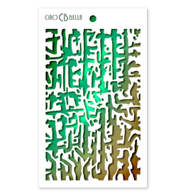 """Ciao Bella Texture Stencil 5""""x8"""" Abstract Lines"""