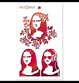 """Ciao Bella Texture Stencil 5""""x8"""" Monnalisa"""