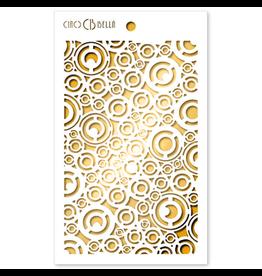 """Ciao Bella Texture Stencil 5""""x8"""" Washers"""