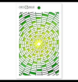 """Ciao Bella Texture Stencil 5""""x8"""" Concentric"""
