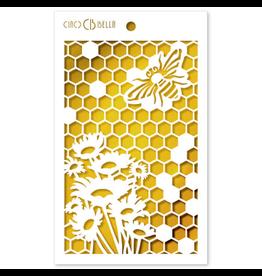 "Ciao Bella Texture Stencil 5""x8"" Queen Bee"