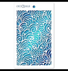 """Ciao Bella Texture Stencil 5""""x8"""" Shells & Bubbles"""