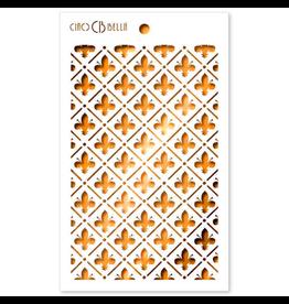 """Ciao Bella Texture Stencil 5""""x8"""" Florentine Lily"""