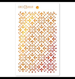 """Ciao Bella Texture Stencil 5""""x8"""" Cortona"""
