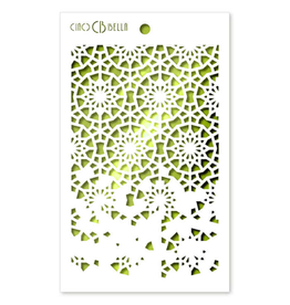 "Ciao Bella Texture Stencil 5""x8"" Twelve Points"