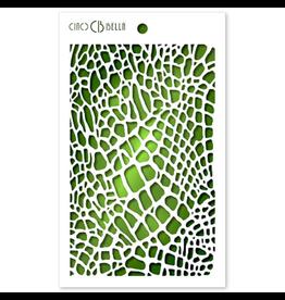"""Ciao Bella Texture Stencil 5""""x8"""" Crocodile"""