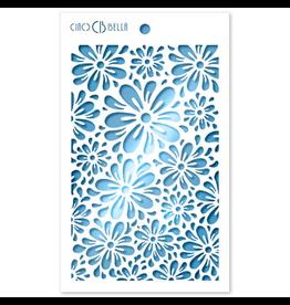 """Ciao Bella Texture Stencil 5""""x8"""" Blossom"""