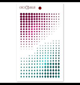 """Ciao Bella Texture Stencil 5""""x8"""" Dots & Diamonds"""
