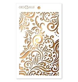"""Ciao Bella Texture Stencil 5""""x8"""" Flourish"""