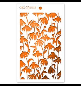 "Ciao Bella Texture Stencil 5""x8"" Daisies"