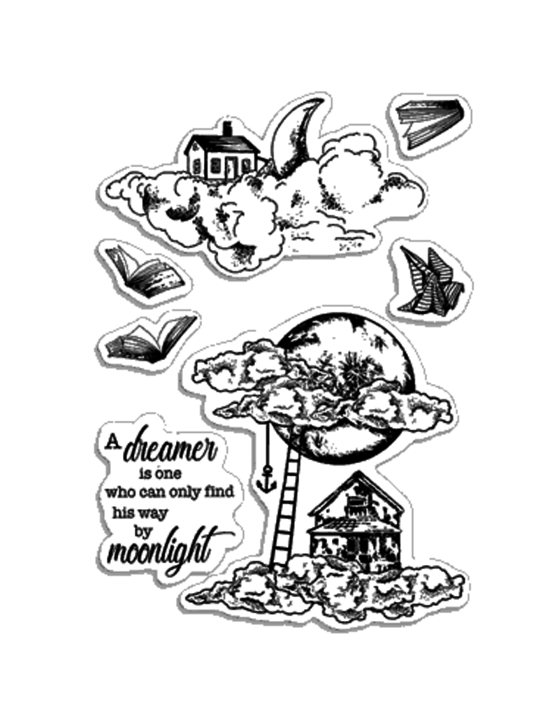 """Ciao Bella Clear Stamp Set 4""""x6"""" Moonlight"""