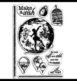 "Ciao Bella Clear Stamp Set 4""x6"" Make a wish"