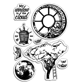 """Ciao Bella Clear Stamp Set 4""""x6"""" Windows in the cloud"""