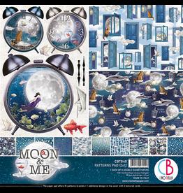 "Ciao Bella Moon & Me Patterns Pad 12""x12"" 8/Pkg"