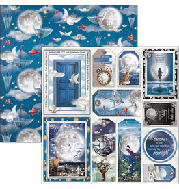 """Ciao Bella Moon & Me Cards and Tags Paper Sheet 12""""x12"""""""