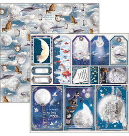 """Ciao Bella Moon & Me Frames and Tags Paper Sheet 12""""x12"""""""