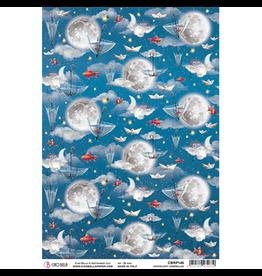 Ciao Bella Rice Paper A4 Moonlight Umbrellas