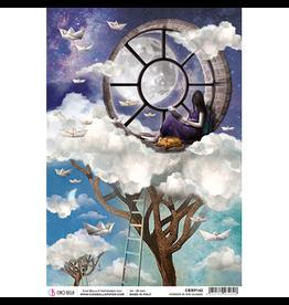 Ciao Bella Rice Paper A4 Window in the Clouds