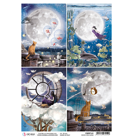Ciao Bella Rice Paper A4 Moon & Me Cards