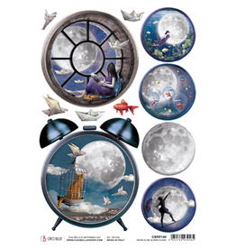 Ciao Bella Rice Paper A4 Moon & Me Alarm Clock