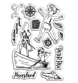"""Ciao Bella Clear Stamp Set 4""""x6"""" Peter Pan"""