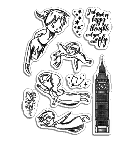 """Ciao Bella Clear Stamp Set 4""""x6"""" Second star to the right"""