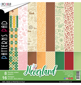 "Ciao Bella Neverland Patterns Pad 12""x12"" 8/Pkg"