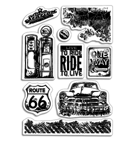 """Ciao Bella Clear Stamp Set 4""""x6"""" Gas Station"""