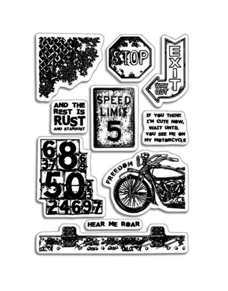 """Ciao Bella Clear Stamp Set 4""""x6"""" Speed Limit"""