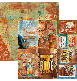 """Ciao Bella Rusted Cards Paper Sheet 12""""x12"""""""