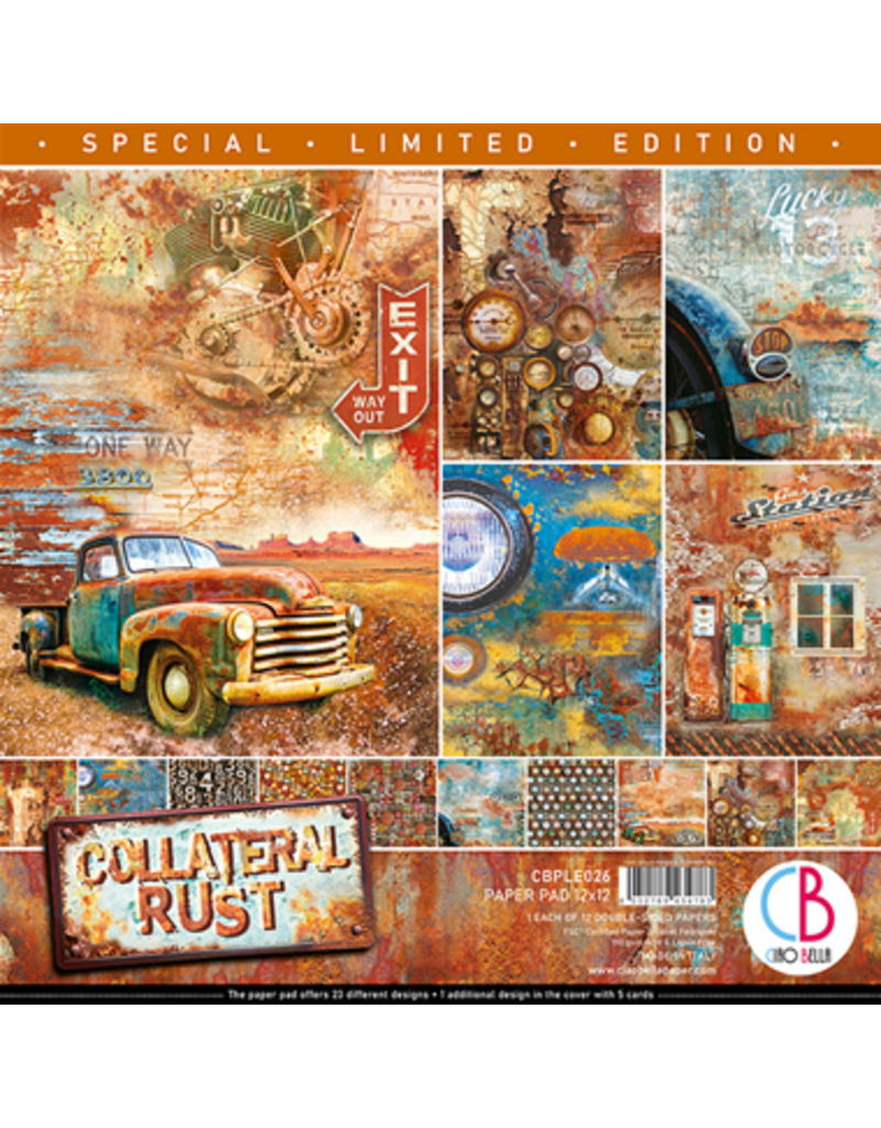 """Ciao Bella Collateral Rust Limited Edition Paper Pad 12""""x12"""" 12/Pkg"""