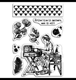 "Ciao Bella Clear Stamp Set 4""x6"" Write like it matters"