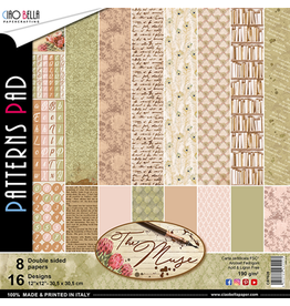 """Ciao Bella The Muse Patterns Pad 12""""x12"""" 8/Pkg"""