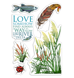 """Ciao Bella Clear Stamp Set 4""""x6"""" Delta's Typha"""