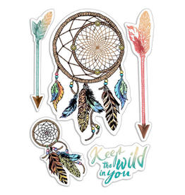 """Ciao Bella Clear Stamp Set 4""""x6"""" Keep the Wild in You"""