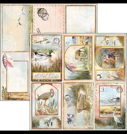 """Ciao Bella Delta Postcards Paper Sheet 12""""x12"""""""