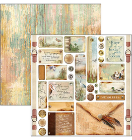 """Ciao Bella Delta Tags & Buttons Paper Sheet 12""""x12"""""""