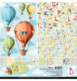 """Ciao Bella My First Year Patterns Pad 12""""x12"""" 8/Pkg"""