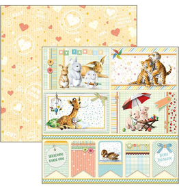 """Ciao Bella My First Year Cards & Tags Paper Sheet 12""""x12"""""""