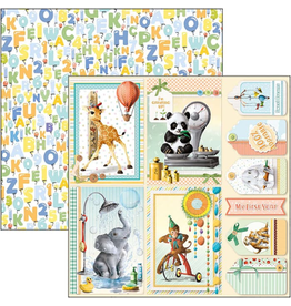 """Ciao Bella My First Year Cards Paper Sheet 12""""x12"""""""