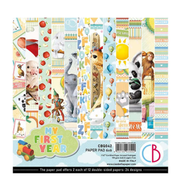 """Ciao Bella My First Year Paper Pad 6""""x6"""" 24/Pkg"""