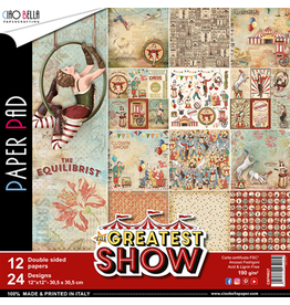 "Ciao Bella The Greatest Show Paper Pad 12""x12"" 12/Pkg"
