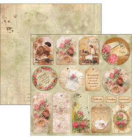 """Ciao Bella The Muse Tags Paper Sheet 12""""x12"""""""