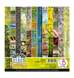 """Ciao Bella Start your Engines Paper Pad 6""""x6"""" 24/Pkg"""