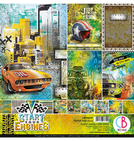 """Ciao Bella Start your Engines Paper Pad 12""""x12"""" 12/Pkg"""